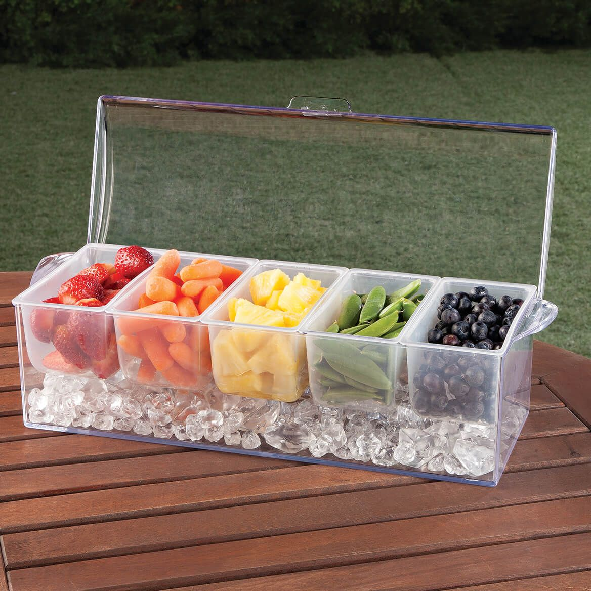 5 Section Condiment Server on Ice-363174