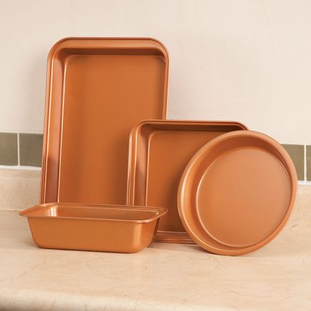 Copper Ceramic 4 PC Value Bakeware Set-363336