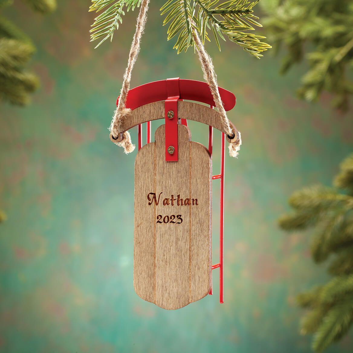 Personalized Nostalgic Sled Ornament-363565