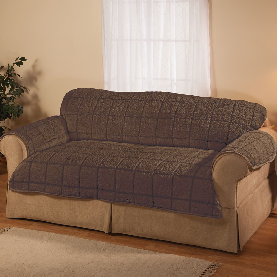 Parker Water-Resistant Sherpa Sofa Cover by OakRidge™-363771