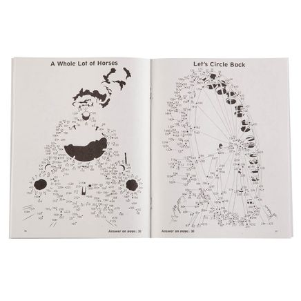 Brain Games® Large Print Dot-to-Dot Puzzle Books, Set of 5-363816