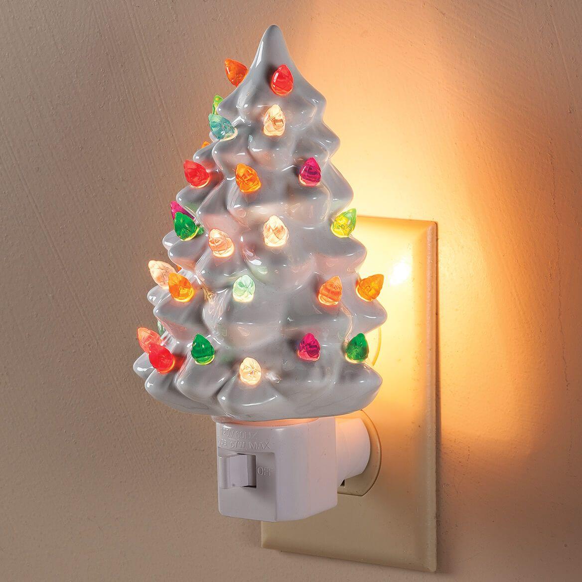 White Ceramic Tree Night Light-363939