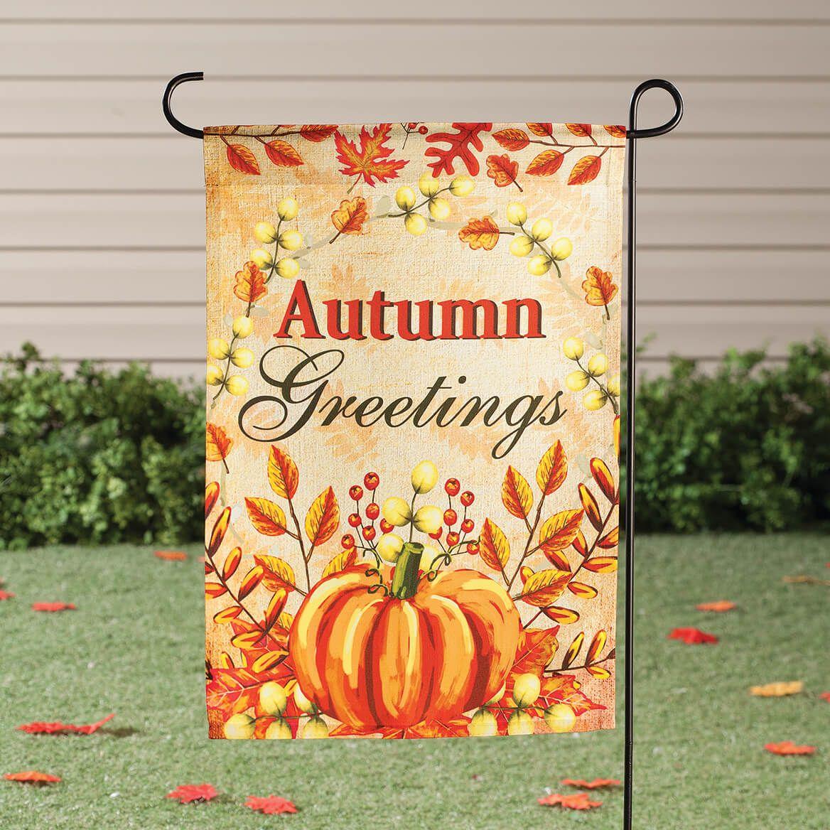 Autumn Greetings Garden Flag-364135