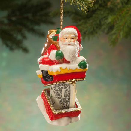 Santa Chimney Ornament Trinket Box-364154