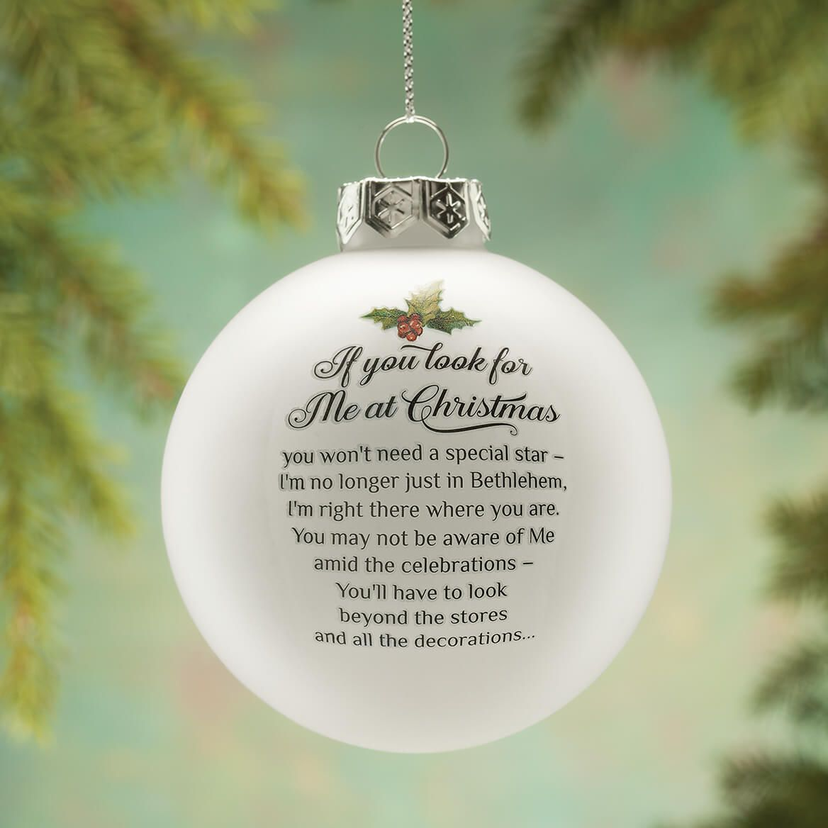 Looking for Jesus Glass Ball Ornament-364173