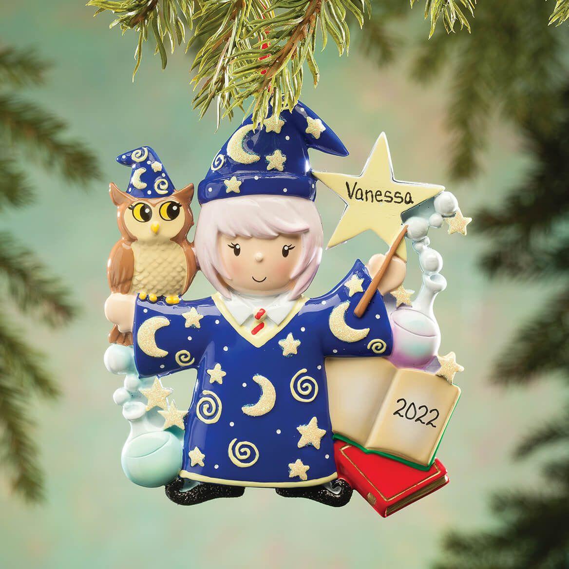 Personalized Wizard Ornament-364213