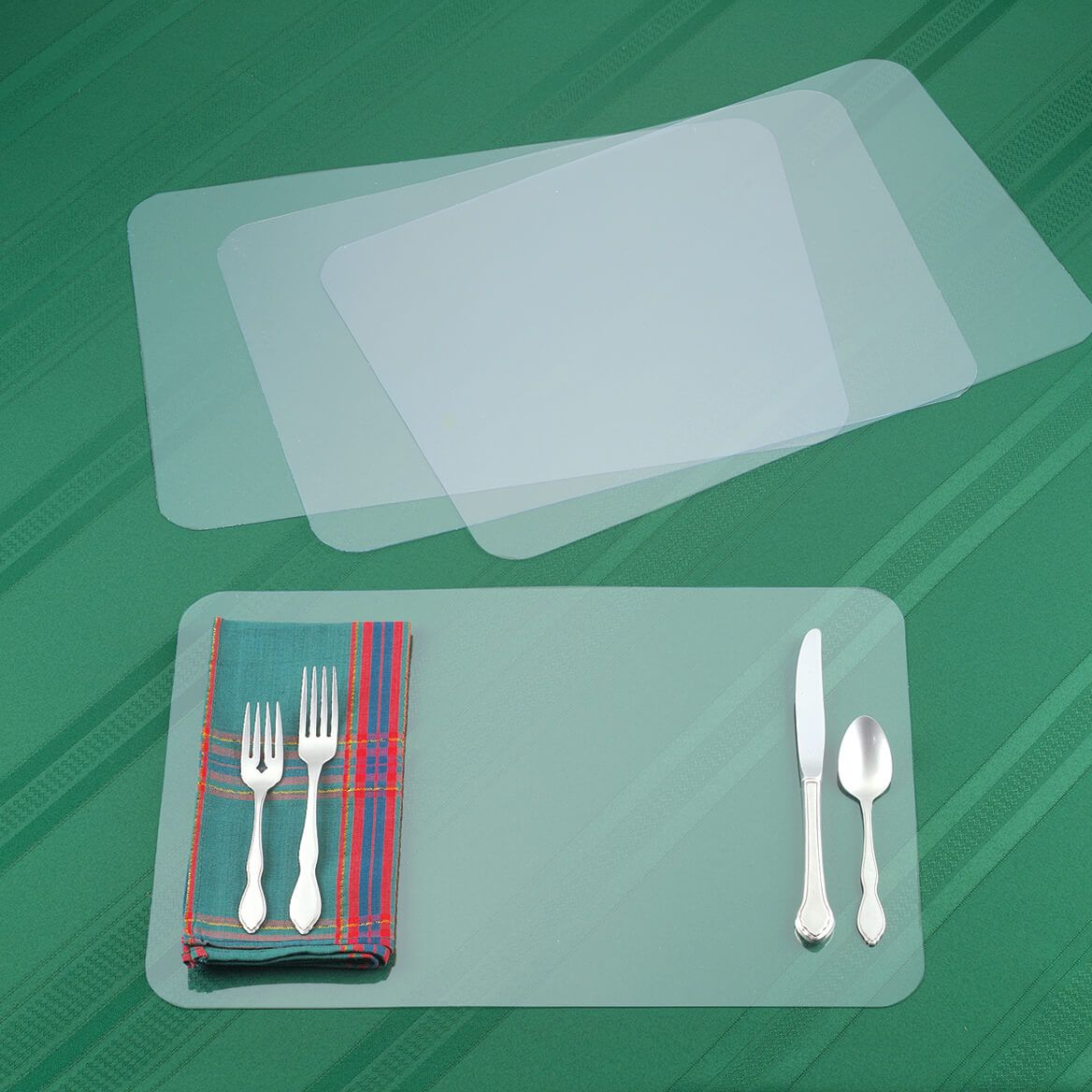 Clear Placemats, Set of 8-364303