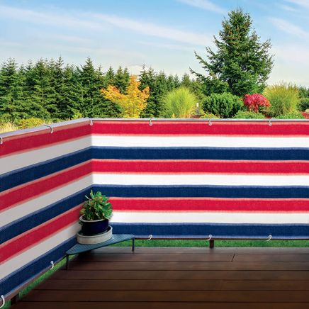 Red, White & Blue Deck & Fence Privacy Screen-364577