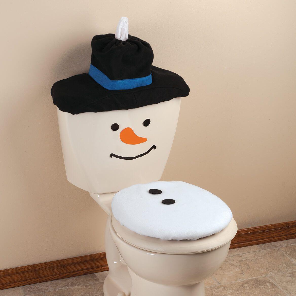 Snowman Toilet Cover-364584