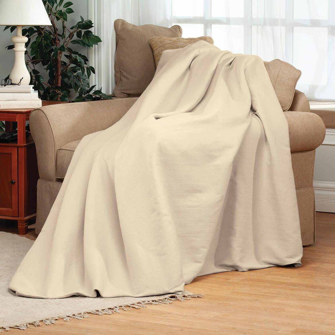 Woven Extra-Soft Cotton Blanket by OakRidge™-364591