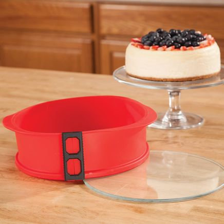 "Silicone Spring Release 9"" Cake Pan with Glass Base-364627"