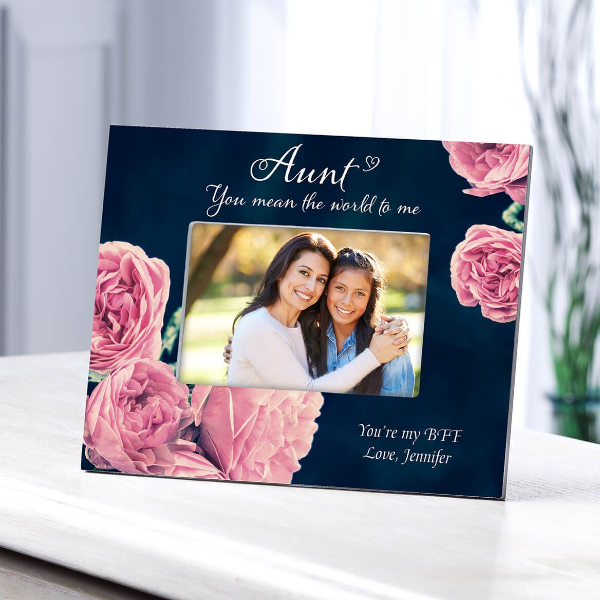 Personalized Aunt English Rose Frame-364646