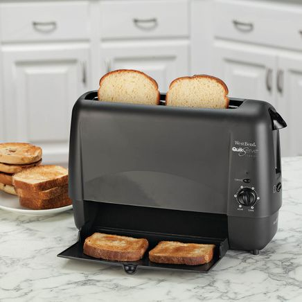 West Bend Quik Serve Toaster, Black-364659