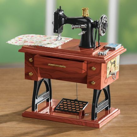 Vintage Sewing Machine Music Box-364682