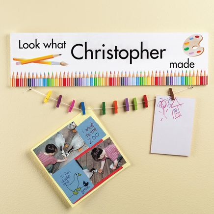 Personalized Look What... Artwork Display Board-364690