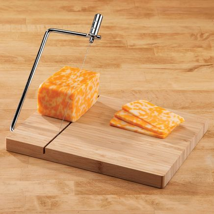 Bamboo Cheese Board with Wire Slicer-364703