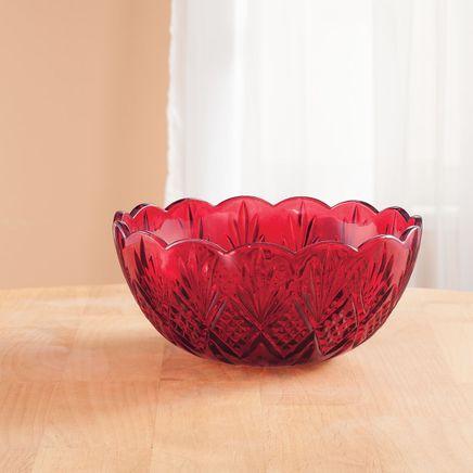 Dublin Red Crystal Serving Bowl-364714