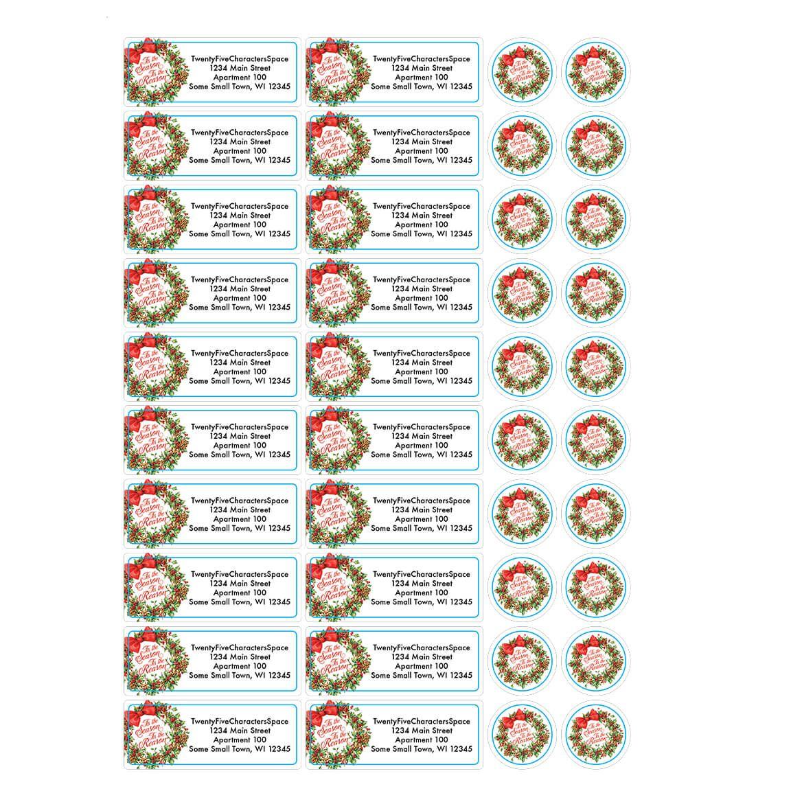 Personalized Tis the Reason Address Labels & Envelope Seals 20-364765