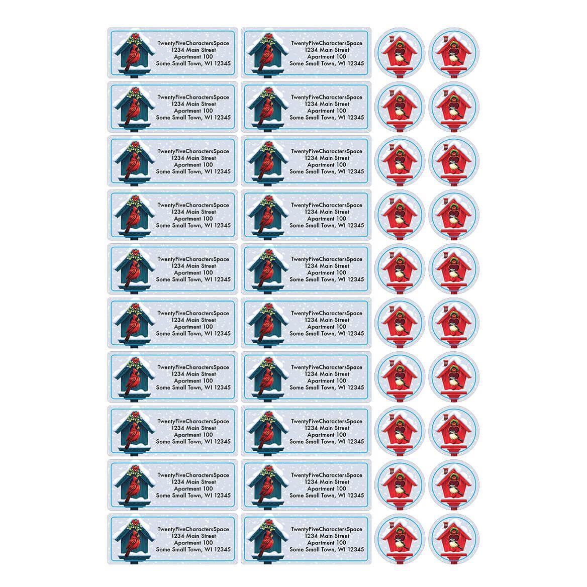 Personalized Festive Friends Address Labels & Envelope Seal 20-364782