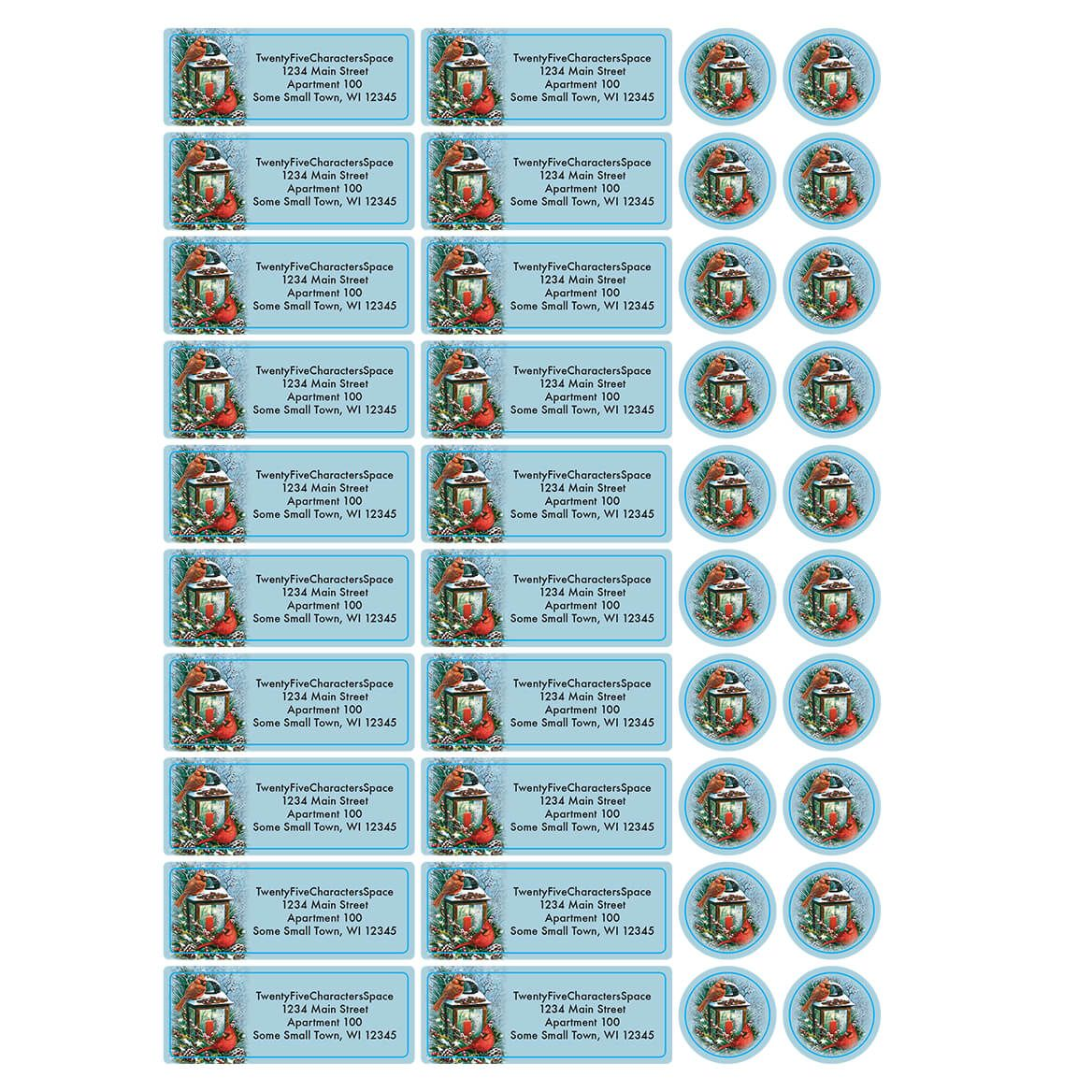 Personalized Cardinals Greeting  Address Labels & Seals 20-364797