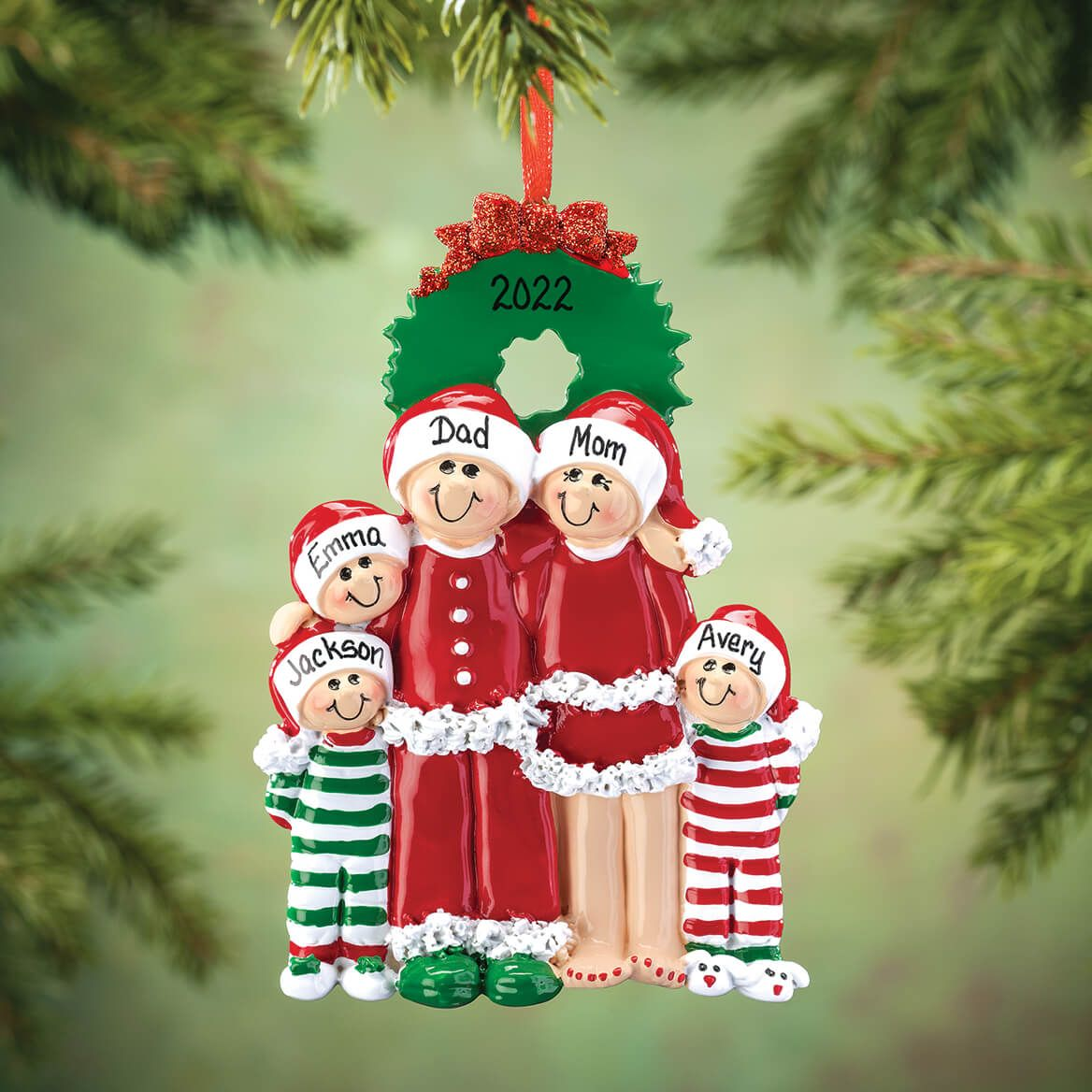 Personalized Christmas Eve Family Ornament-364874