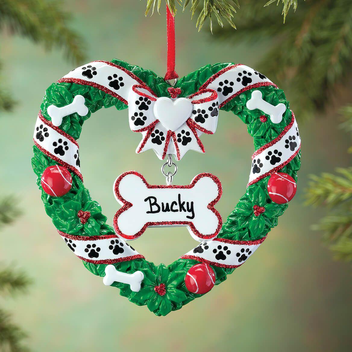 Personalized Pet Wreath Ornament-364878