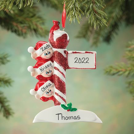 Personalized Street Post Family Ornament-364915
