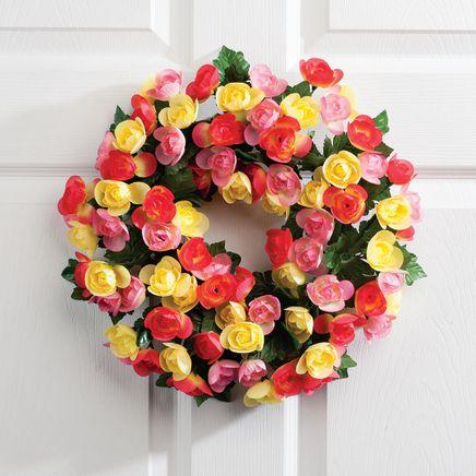 "15 "" Begonia Wreath By Oakridge Outdoor™-365031"