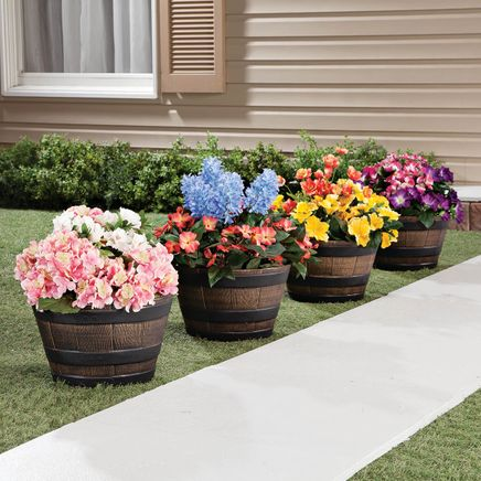 Barrel Planters, Set of 4-365032