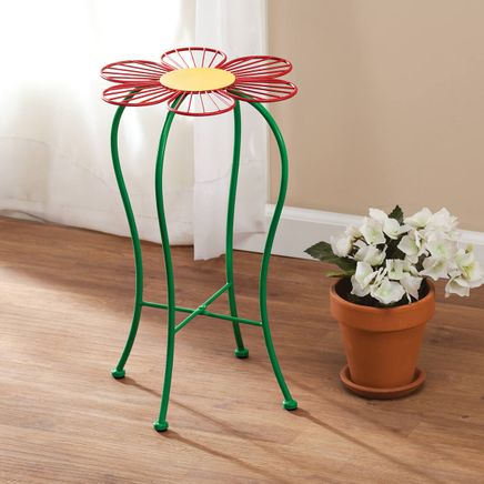 Folding Red Flower Plant Stand-365124