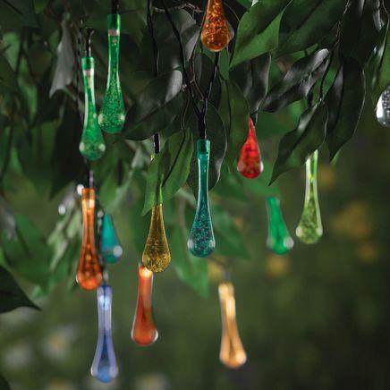Color Changing LED Solar Rain Drop String Lights-365148