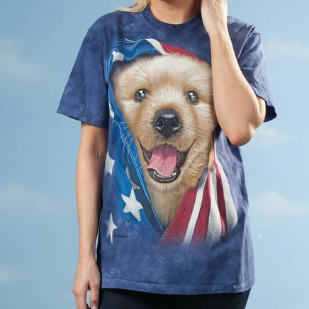 Patriotic Golden Pup T-Shirt-365367