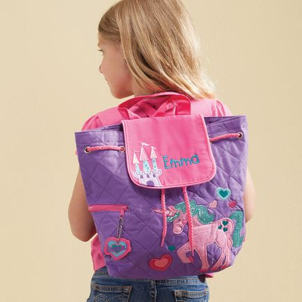 Personalized Stephen Joseph® Unicorn Quilted Backpack-365388
