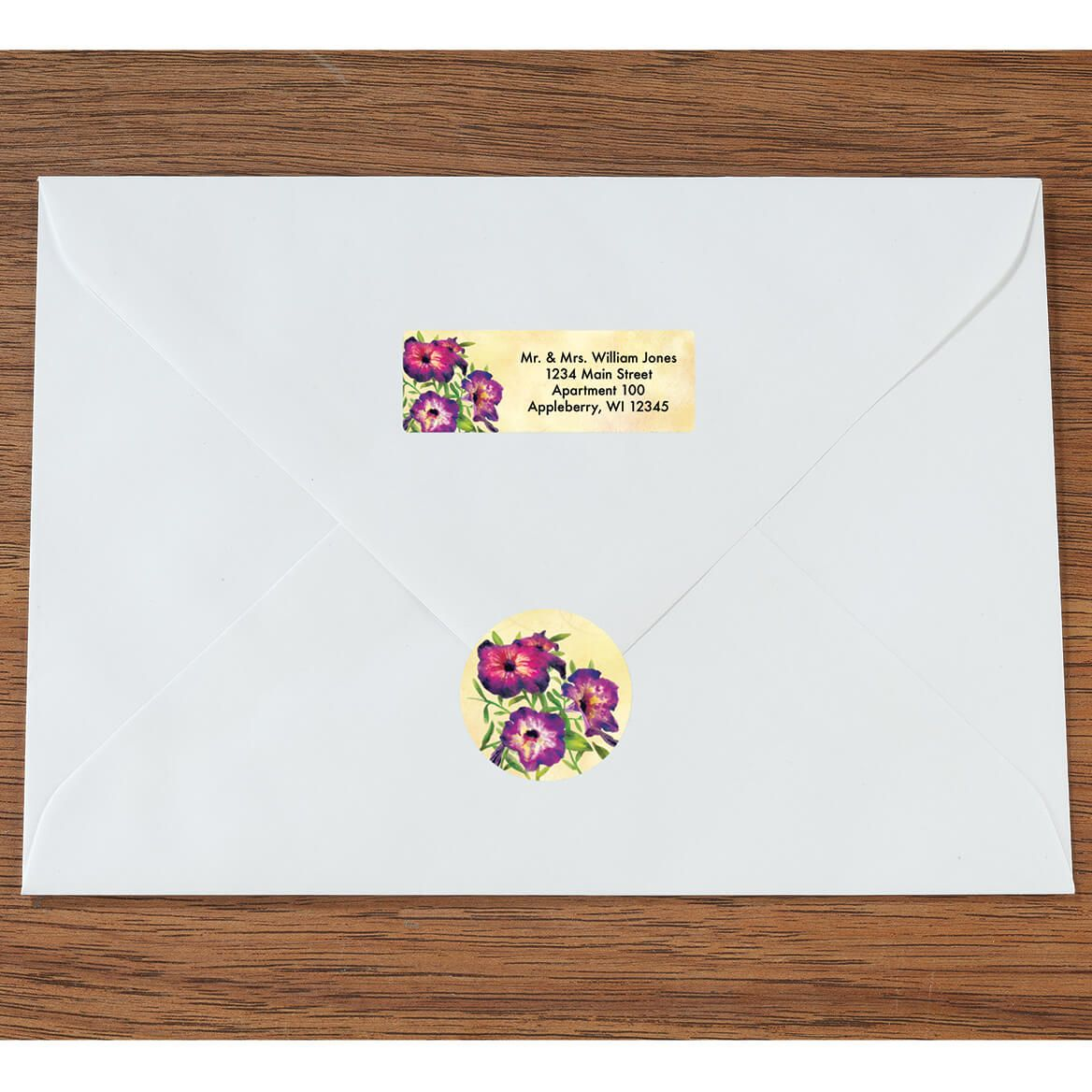 Personalized Floral Labels & Envelope Seals 60-365591