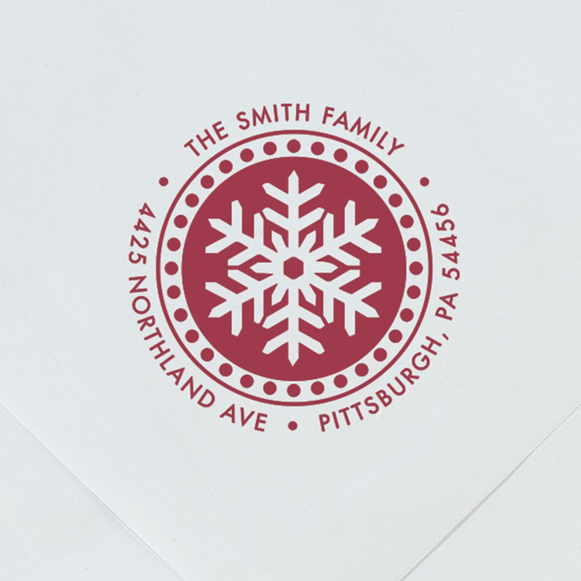 Personalized Snowflake Stamper-365608