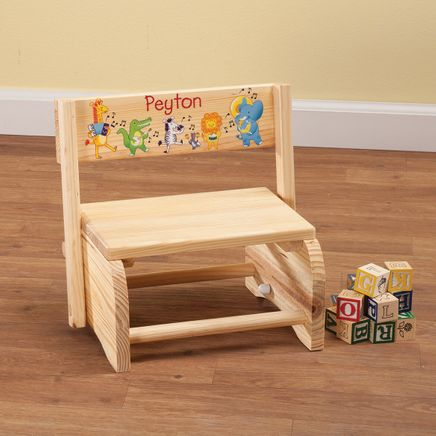 Personalized Children's Musical Animals Step Stool-365659