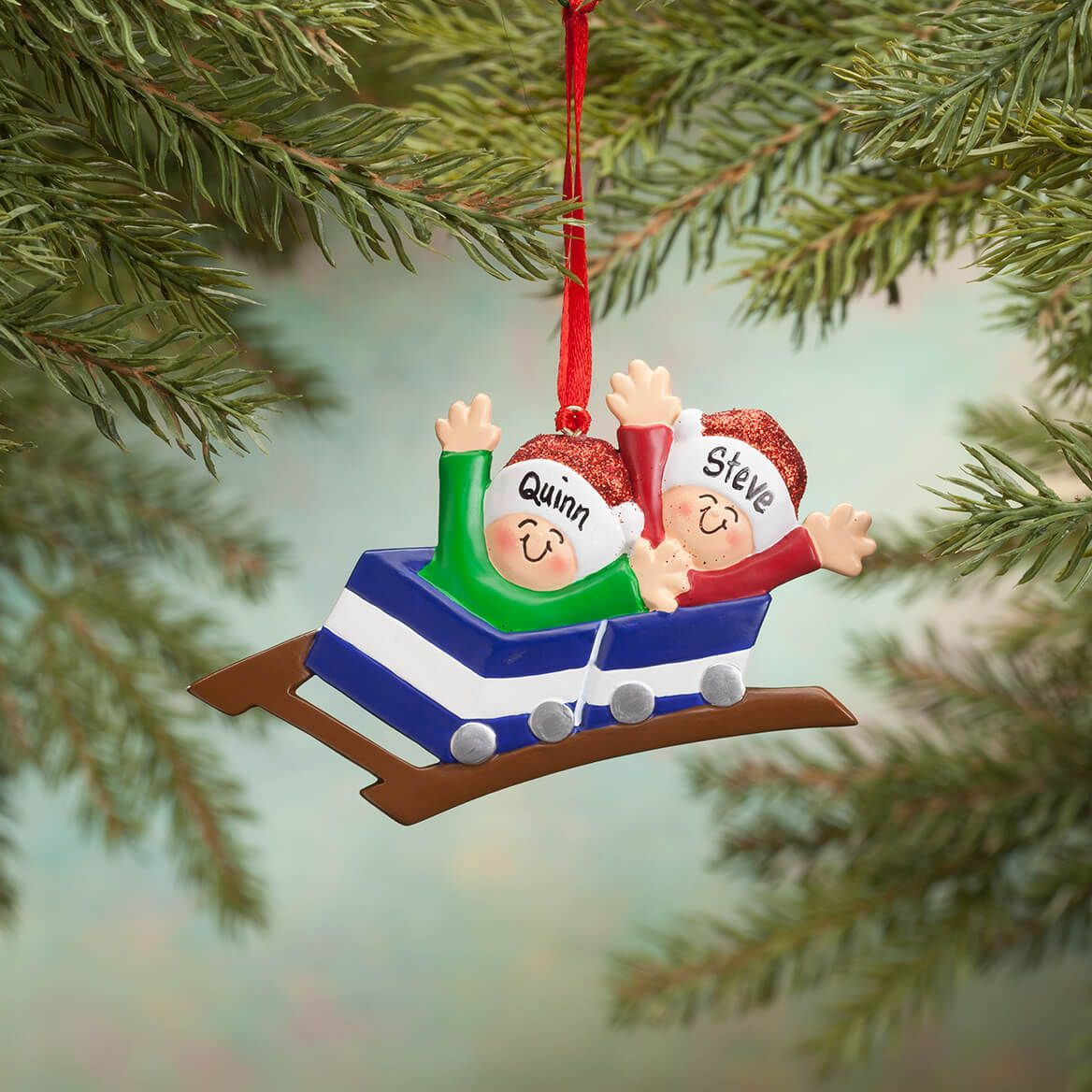 Personalized Family Roller Coaster Ornament-365698
