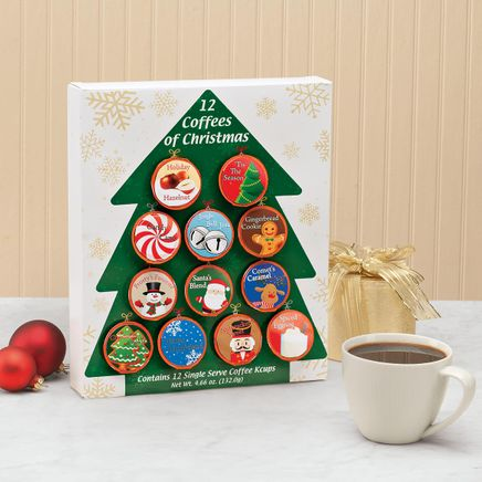 12 Coffees of Christmas Single Serve Tree Gift Pack-365742