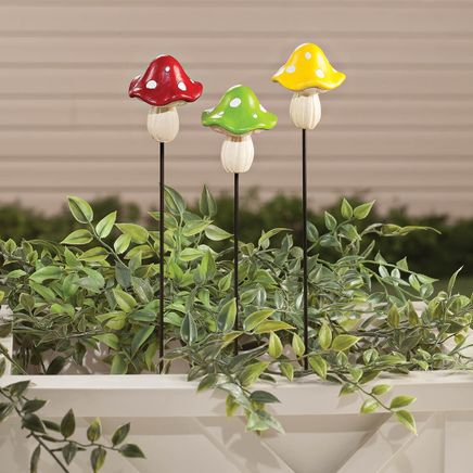 Resin Mushroom Planter Stakes by Fox River Creations™-365862