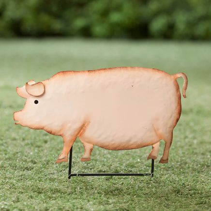 Metal Pig Lawn Stake by Fox River Creations™-365940