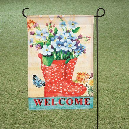 Welcome Rain Boots Garden Flag-365944