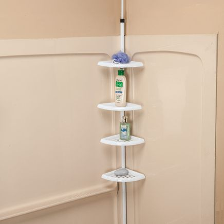 4-Tier Tension Pole Shelf by LivingSURE™-366049