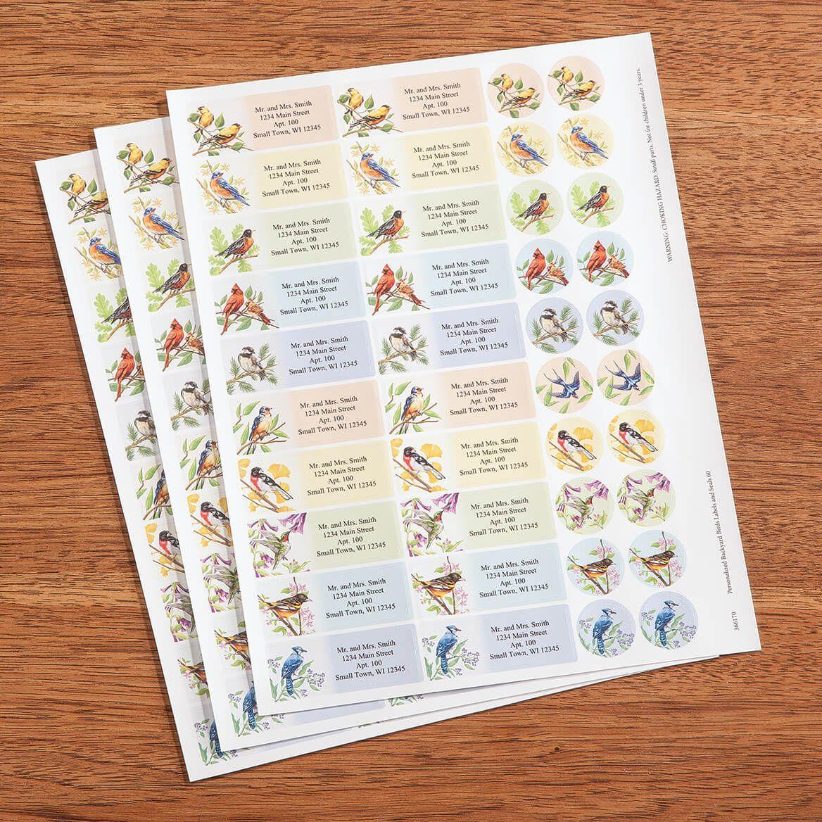 Personalized Backyard Birds Labels & Envelope Seals, Set of 60-366170