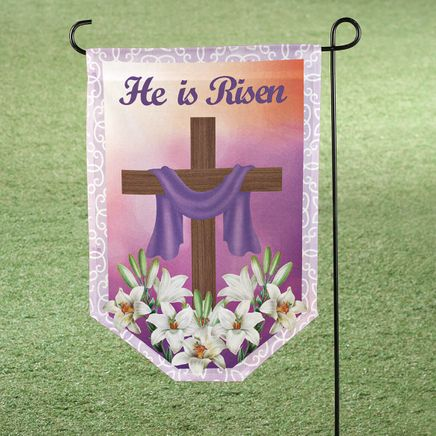 """He is Risen"" Garden Flag-366336"