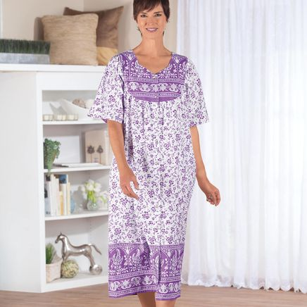 Lavender Border Snap Front Lounger by Sawyer Creek-366396