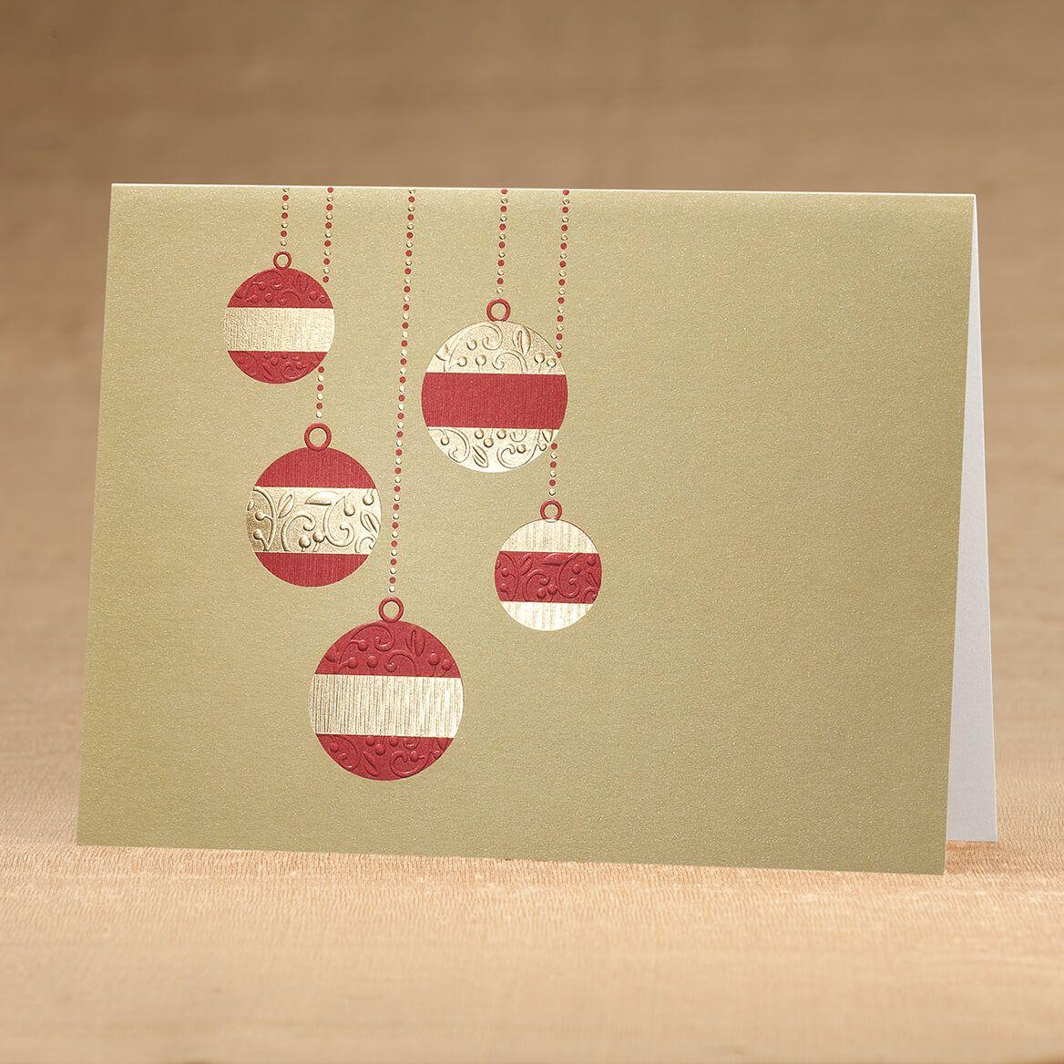 Golden Cascade Ornaments Christmas Card Set 18-366423