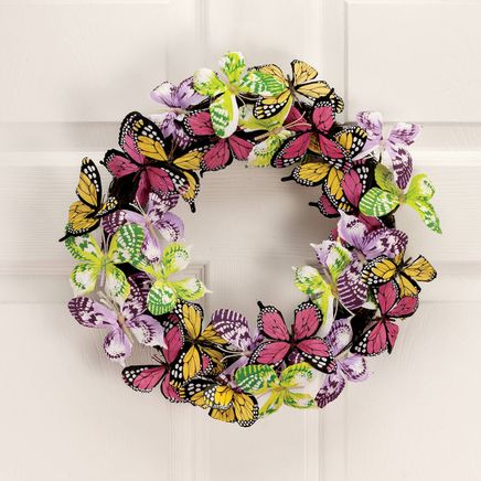 Colorful Butterflies Wreath-366627