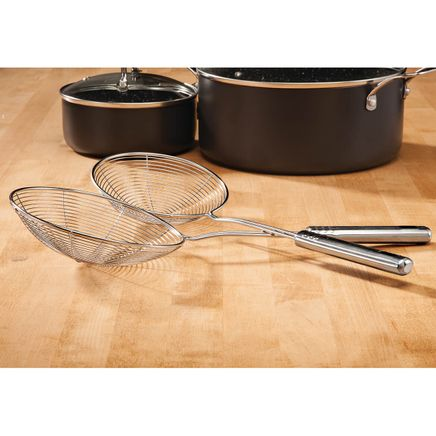 Home Marketplace Stainless Steel Pro Strainers Set of 2-366719