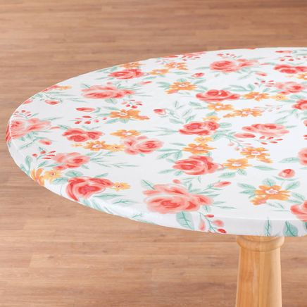 Watercolor Vinyl Elasticized Table Cover by HomeStyle Kitche-366971