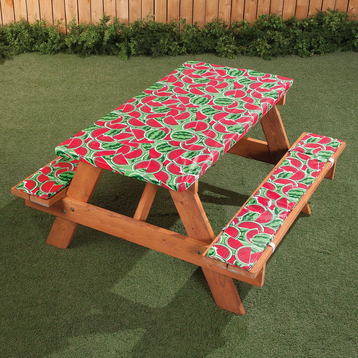 Deluxe Picnic Table Cover w/ Cushions by HSK Watermelon-366977